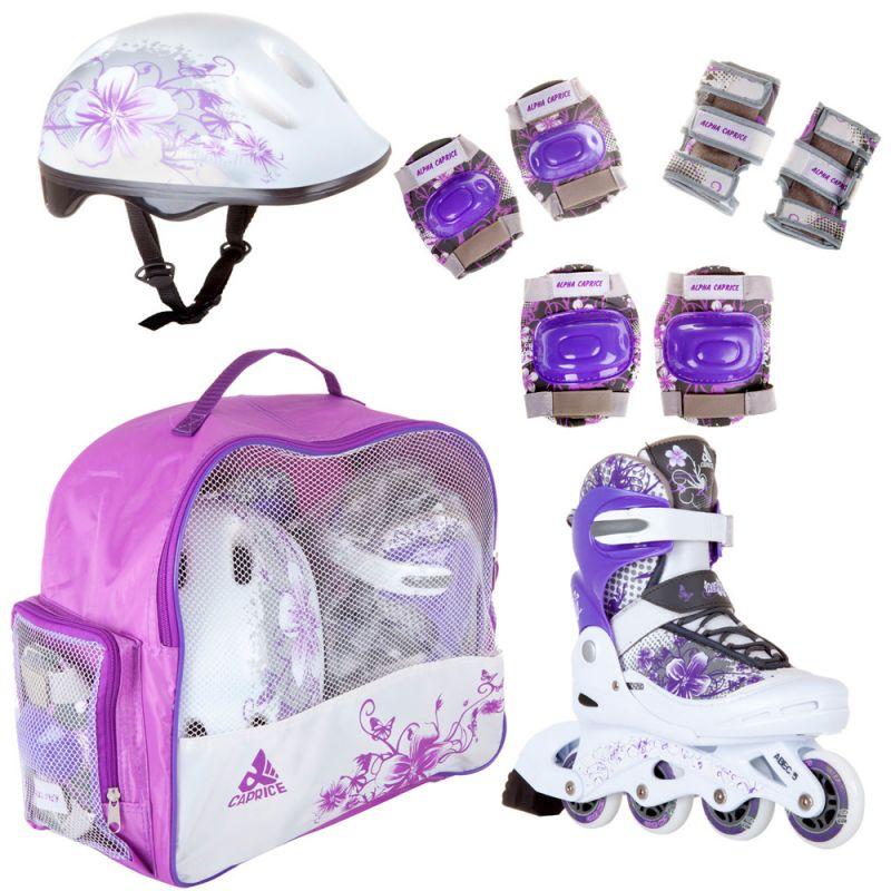 Детские комплект роликовых коньков PW-117 violet