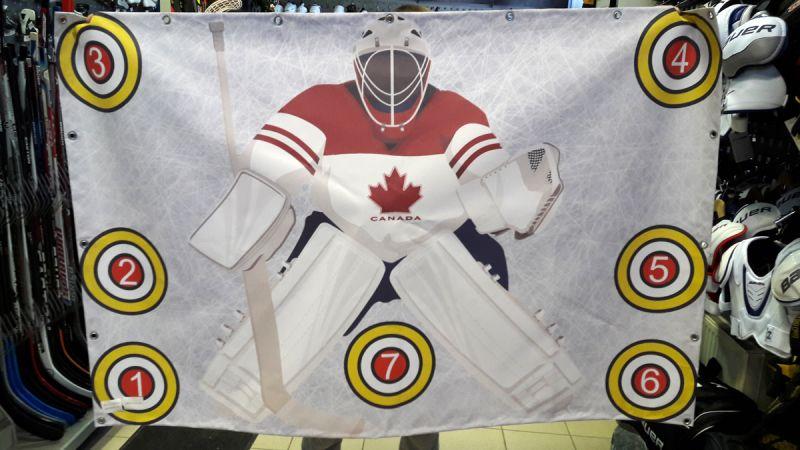 Имитатор хоккейных ворот с мишенями