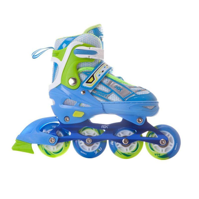 Раздвижные роликовые коньки RGX Yuppie Blue с LED подсветкой колес