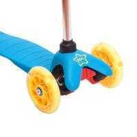 Детский трехколесный самокат RGX Mini LED blue